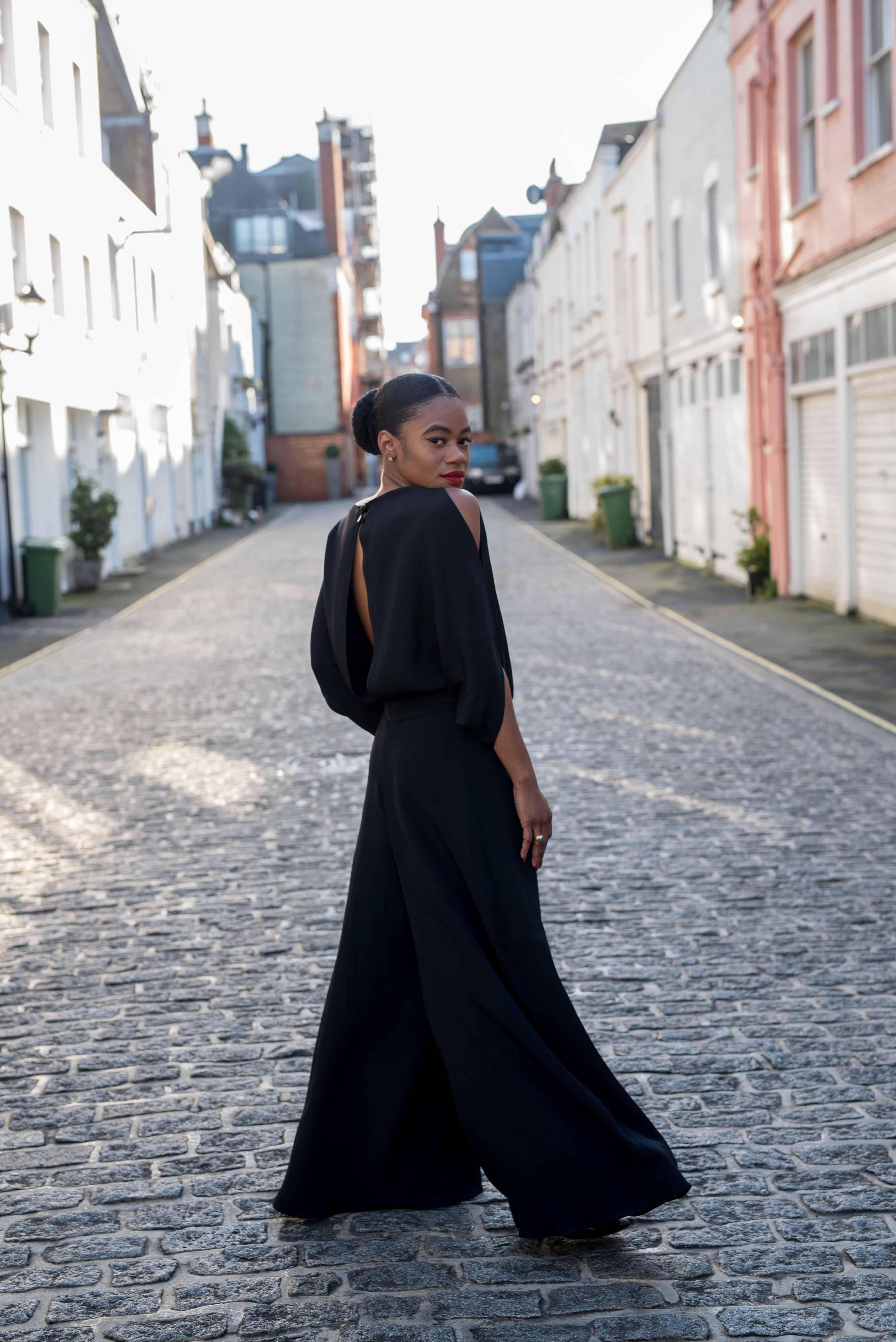 Black Silk Jumpsuit 8