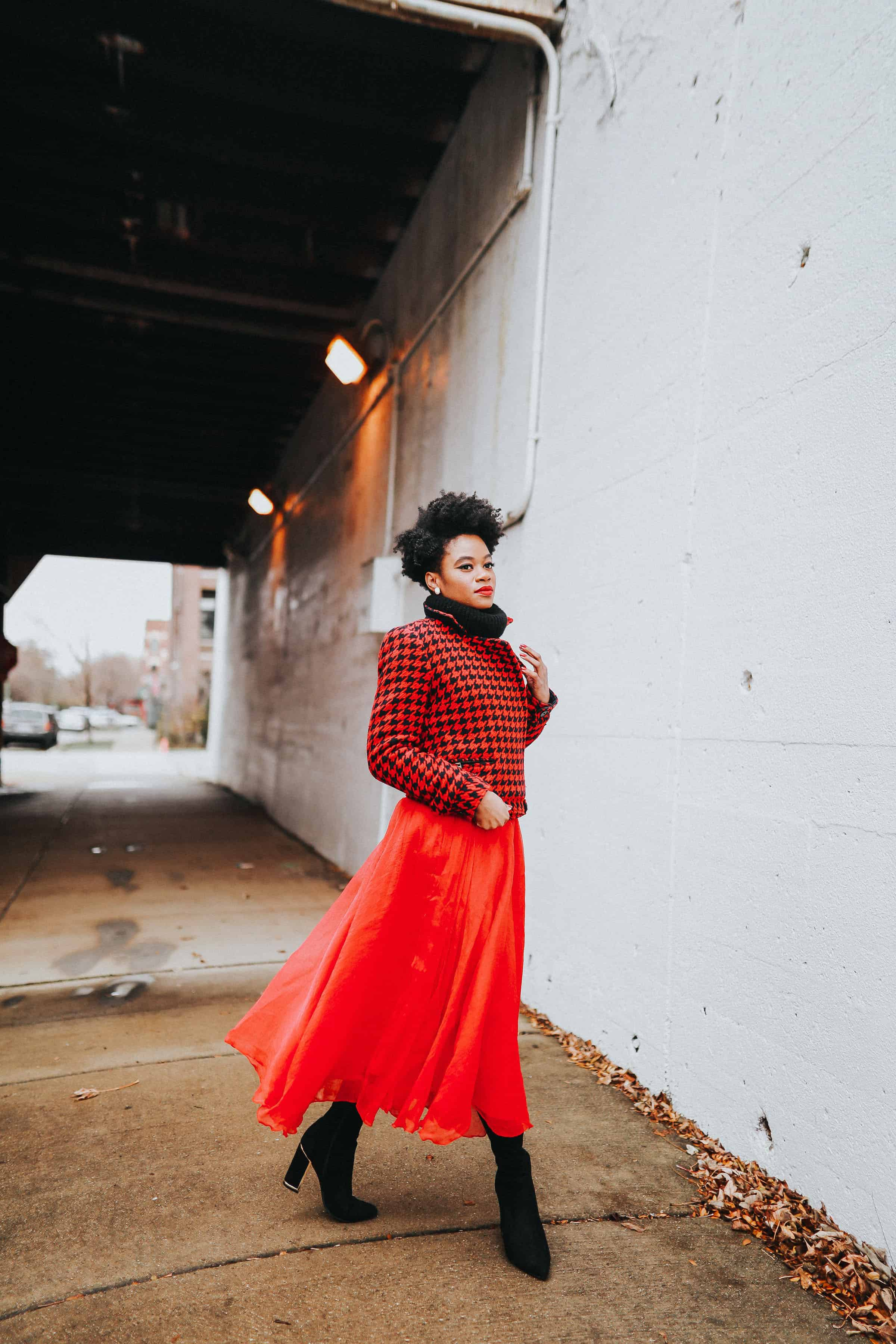 Red Tommy Hilfiger jacket and tulle skirt 2