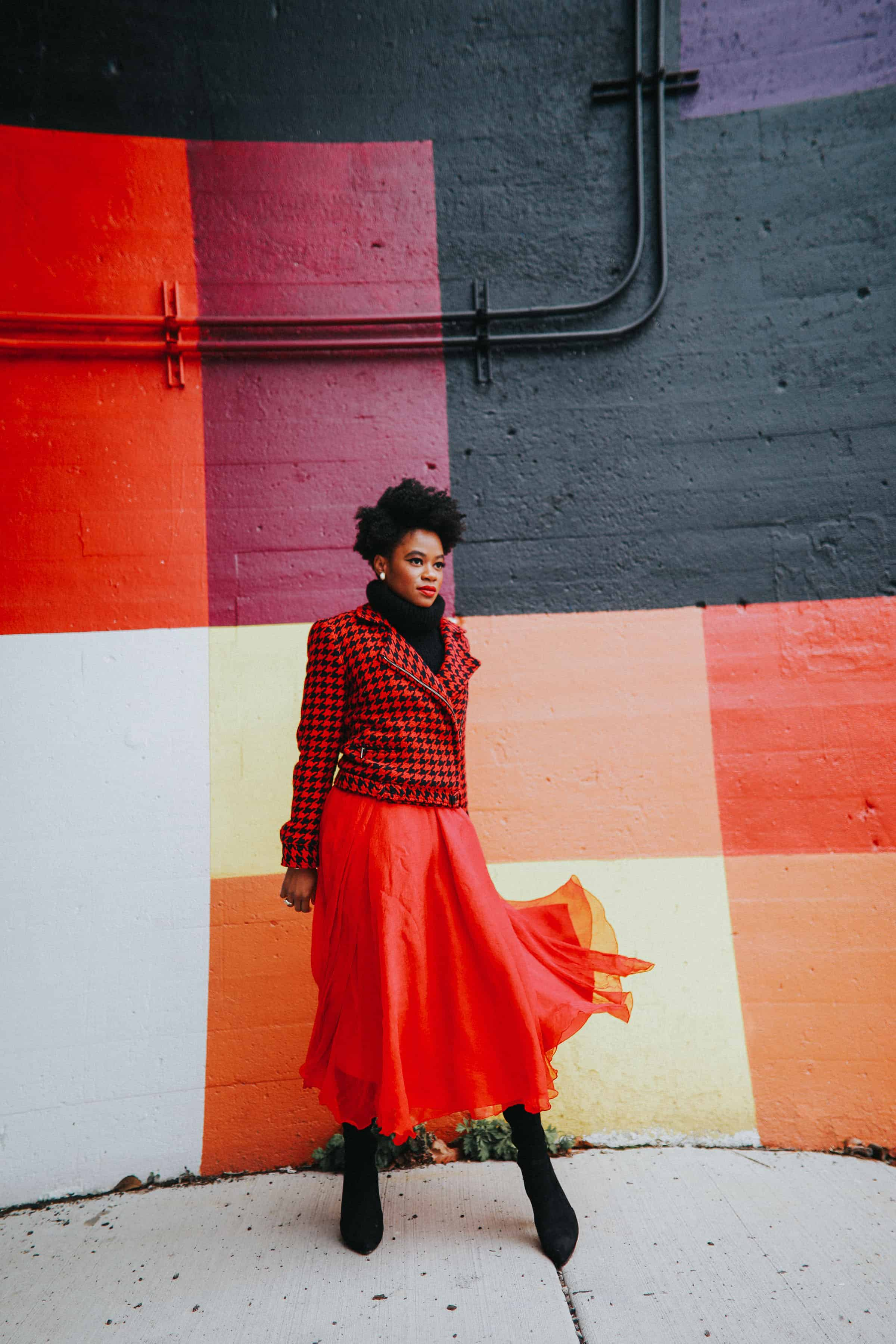 Red Tommy Hilfiger jacket and tulle skirt 3
